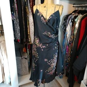 Jones New York 100% Silk Spaghetti Strap Dress